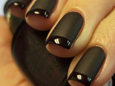 french manicure noire